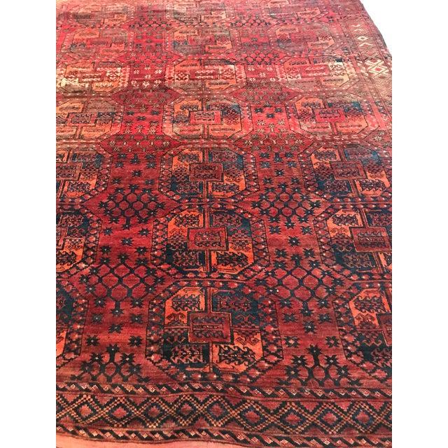 Vintage Handwoven Afghan Rug - 8′ × 10′6″ - Image 4 of 9