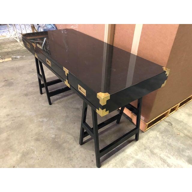 Selamat Designs Chiba Black Lacquer Study Desk - Image 4 of 8