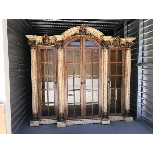 Wood Maitland-Smith Display Cabinet Breakfront For Sale - Image 7 of 7