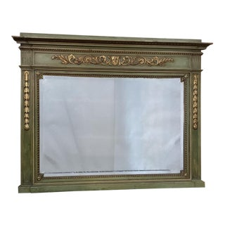 Antique Italian Neoclassical Painted Mirror For Sale