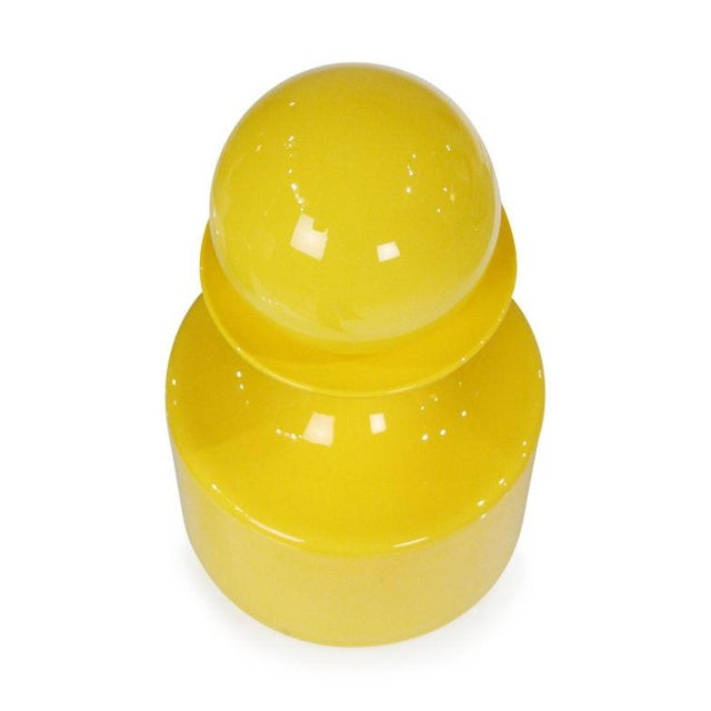 Otto Brauer Otto Brauer Yellow & Green Cased Glass 'Gulvvase' Vases For Sale - Image 4 of 7
