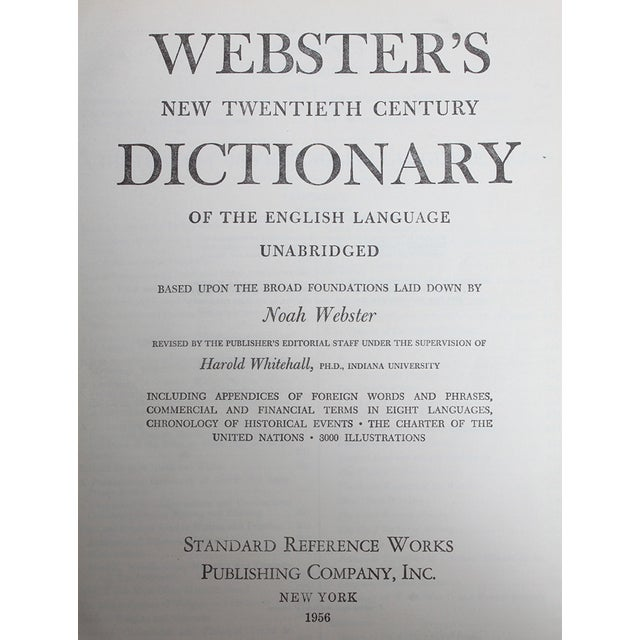 1950's Webster's Dictionary - Image 2 of 3