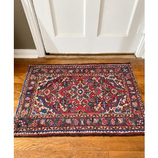 1960s Vintage Hand Knotted Wool Rug- 2′2″ × 3′2″ Preview