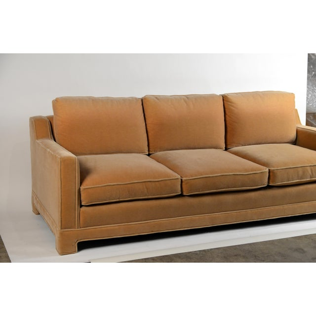 Impeccable Mohair Designer Sofa in the Style of Jean-Michel Frank For Sale In Los Angeles - Image 6 of 10