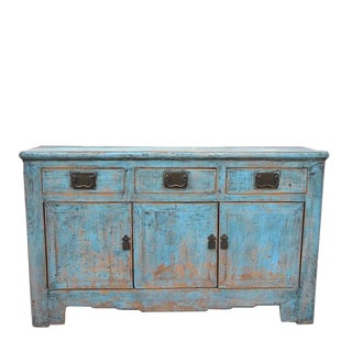 1940s Asian Modern Pale Blue Tianjin Buffet For Sale