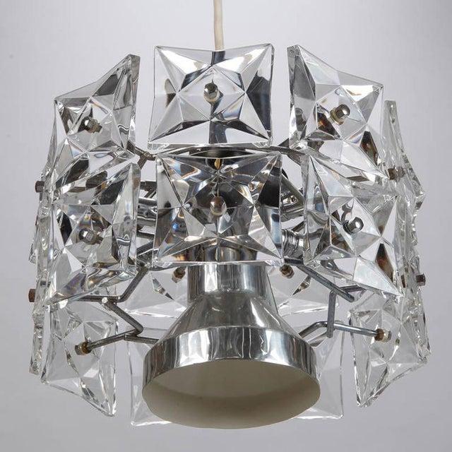Kinkeldey Kinkeldey Crystal Fixture with Chrome and Nickel Base For Sale - Image 4 of 6