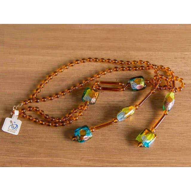 Italian Venetian Glass Bead Necklace by Ercole Moretti For Sale - Image 3 of 5