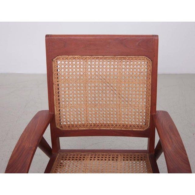 Pair of Danish Solid Teak Studio Lounge Chairs For Sale - Image 6 of 11