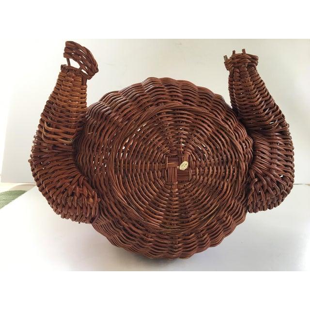 Brown Large-Vintage Natural Wicker Frog Basket For Sale - Image 8 of 12