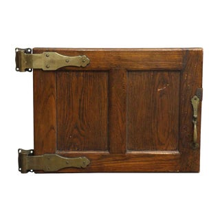 Antique Wooden Refrigerator Door For Sale