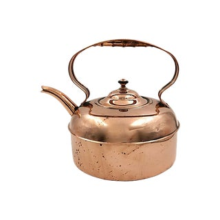 Oversized Antique English Copper Kettle For Sale