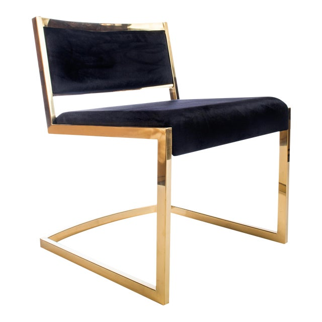 Bradley Gold and Black Dining Chairs For Sale