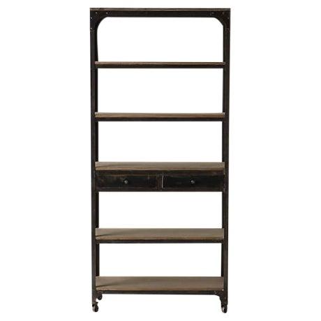 Anthropologie Decker Tall 5-Shelf Bookcase For Sale