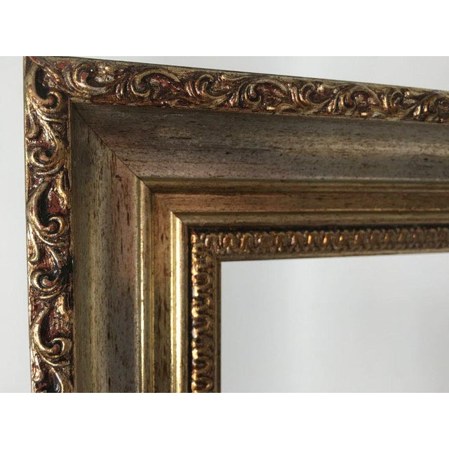 Large 34 X 28 Italian Gold and Silver Giltwood Ornate Wood Frames - a Pair For Sale - Image 10 of 13