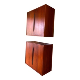 One Left!! Mid Century Modern Teak Floating Wall Unit-A Pair For Sale