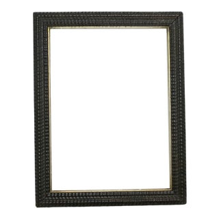 Antique Ebonized Ripple Picture Frame For Sale