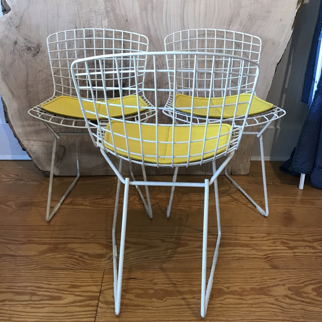 Mid-Century Modern 1950s Vintage Harry Bertoia Child's Chairs - Set of 3 For Sale - Image 3 of 11