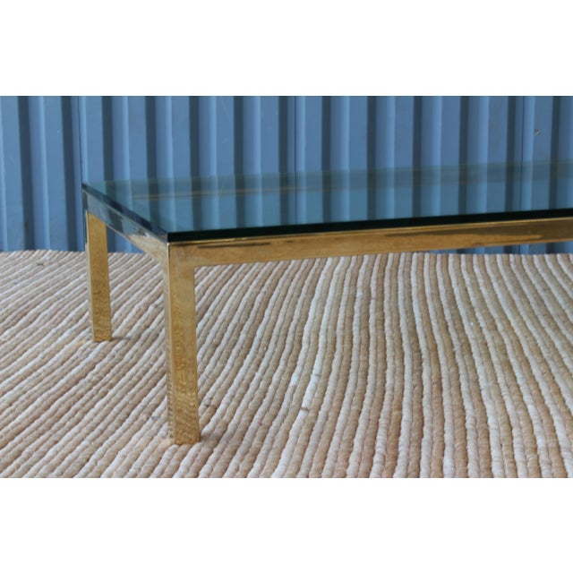 Gold Brass Plated Coffee Table by James Howell, 1970s, USA For Sale - Image 8 of 11