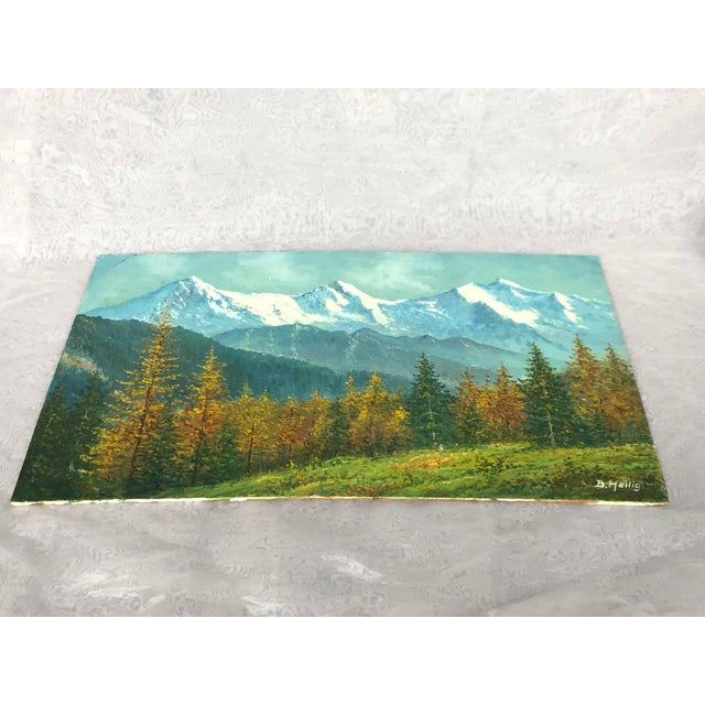 Mid 20th Century Mountain Landscape Oil Painting For Sale - Image 11 of 13