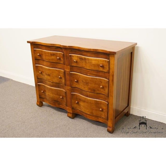 """Hickory Chair Furniture Company Hickory Chair Country French Fruitwood 48"""" Double Dresser For Sale - Image 4 of 13"""
