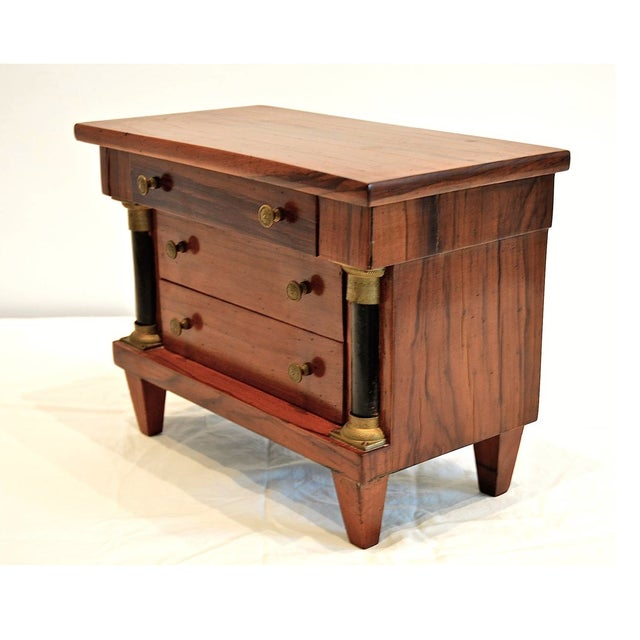1960s Miniature Italian Neoclassical Tabletop Commode For Sale - Image 5 of 9