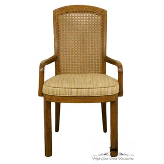 Late 20th Century Vintage Drexel Heritage Accolade Campaign Style Cane Back Dining Arm Chair Preview