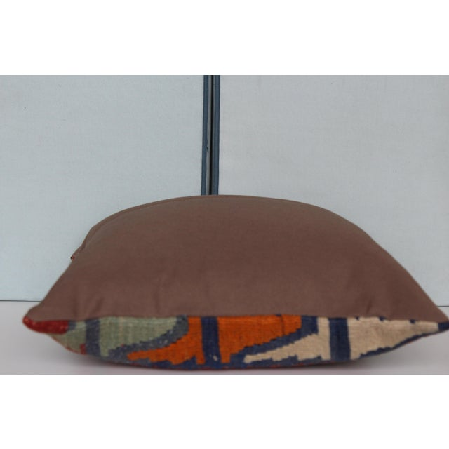 16-Inch Square Turkish Vintage Pillow Cover For Sale - Image 9 of 9