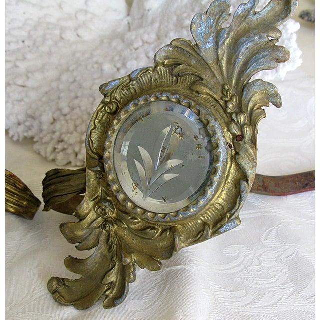 19th-Century Mirrored Curtain Tiebacks - A Pair - Image 6 of 6
