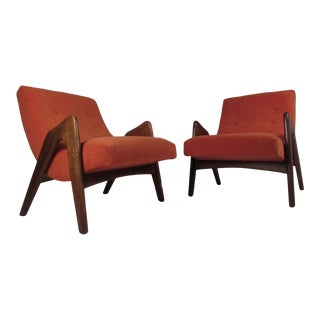 Vintage Modern Adrian Pearsall Lounge Chairs For Sale