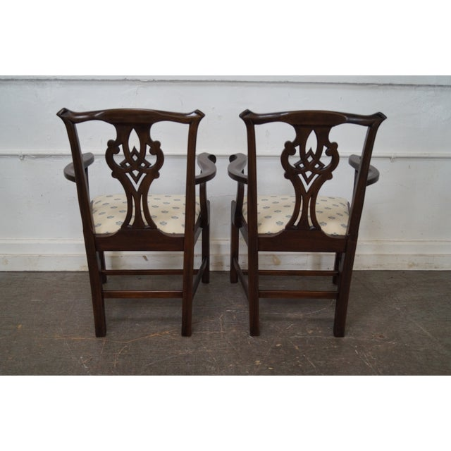 Henkel Harris Solid Mahogany Chippendale Style Dining Chairs - Set of 6 - Image 4 of 10