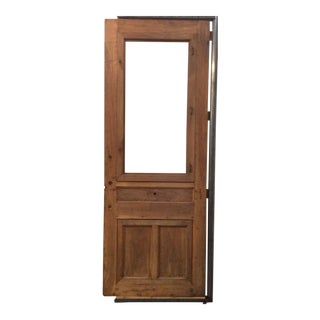 Single Walnut Door with High Relief Paneling