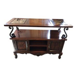 Michelangelo Marble Inlay Serving Buffet For Sale