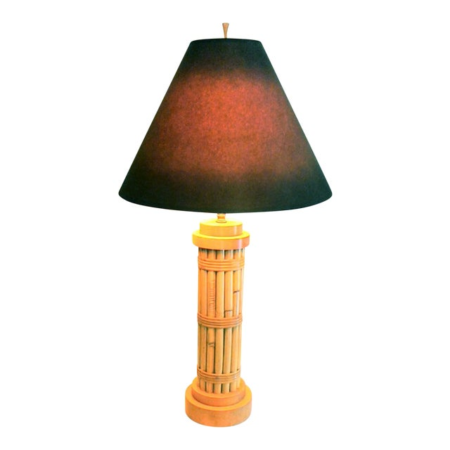 Vintage Regency Style Bamboo Lamp - Image 1 of 8