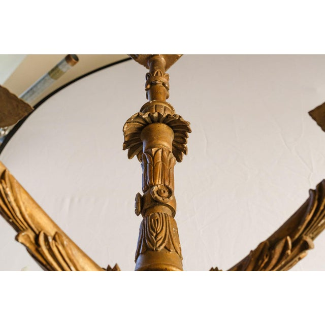 Hand-Carved Giltwood Chandelier For Sale - Image 4 of 11