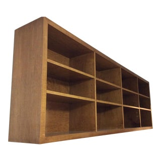 Wall-Mounted Solid Maple Bookcase