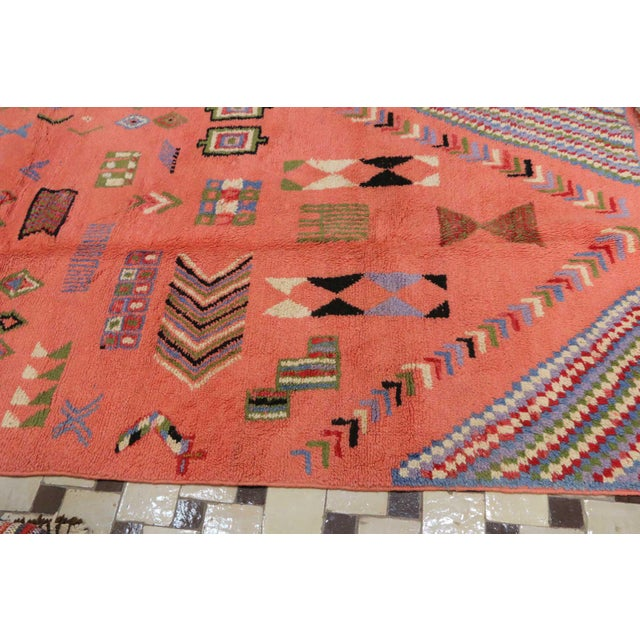 "Boujad Vintage Moroccan Rug, 3'11"" x 7'6"" feet - Image 4 of 6"