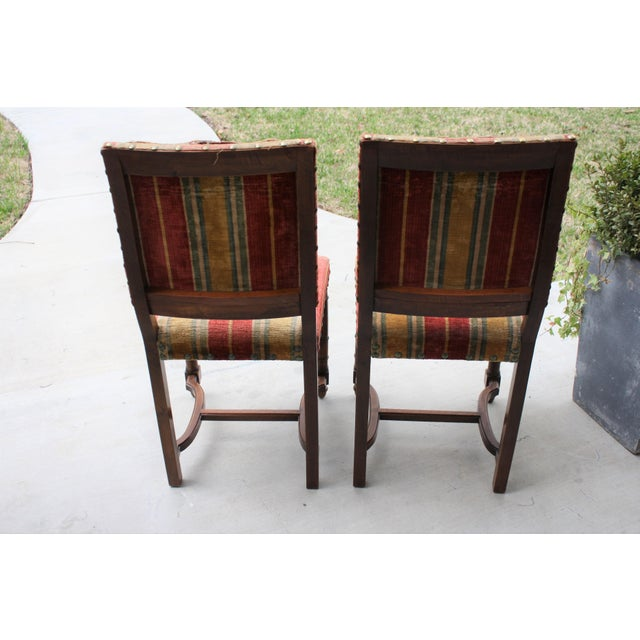 Vintage Spanish Revival Style Chairs - A Pair For Sale - Image 4 of 11