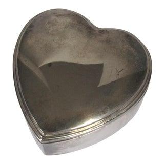 Silver-Plate Heart Trinket Box