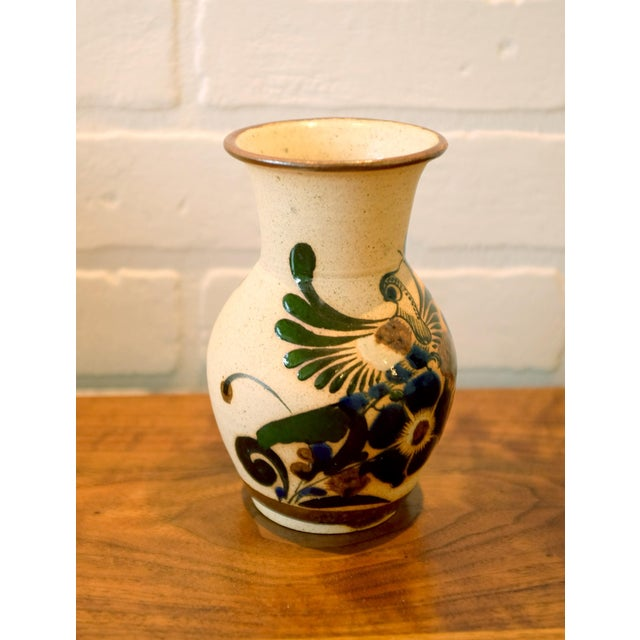 Hand Painted Mexican Studio Pottery Ceramic Vessel For Sale - Image 4 of 8