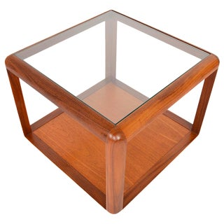 G Plan Square Teak & Glass Coffee Table For Sale