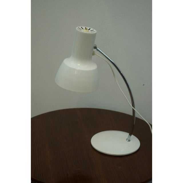 White White table lamp by Josef Hurka for Napako For Sale - Image 8 of 8