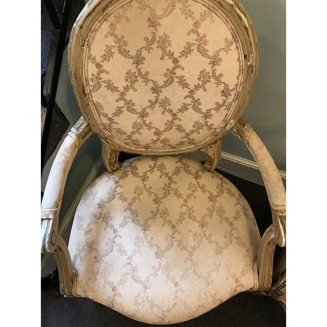 French Early 20th Century French Louis XV Style Chairs - a Pair For Sale - Image 3 of 8