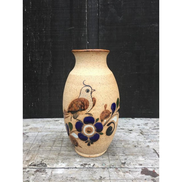Hand Painted Bird Vase For Sale - Image 9 of 9