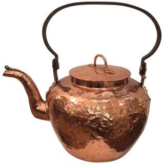 Wonderful Large Copper Kettle Teapot For Sale