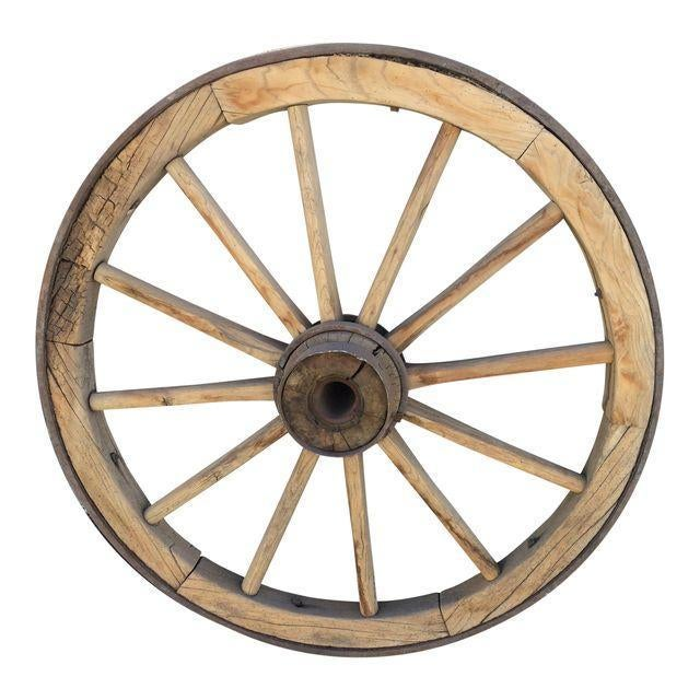 Very Large Pioneer Covered Wagon Wheel - Image 1 of 4