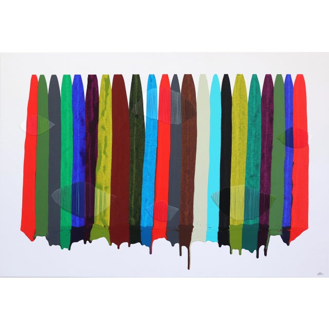 """Fils I Colors Cccxciii"" Original Artwork by Raul De La Torre For Sale - Image 9 of 9"