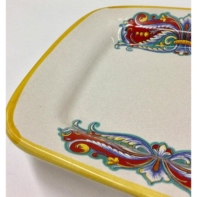 2000 - 2009 Vintage Italian Ceramica Nova Deruta Hand Painted Platter For Sale - Image 5 of 10