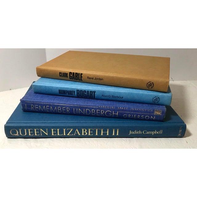 Vintage Queen Elizabeth, Lindbergh, Bogart and Gable Biographies - Set of 4 For Sale - Image 4 of 5