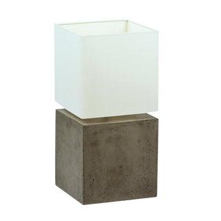Concrete Cube Table Lamp For Sale