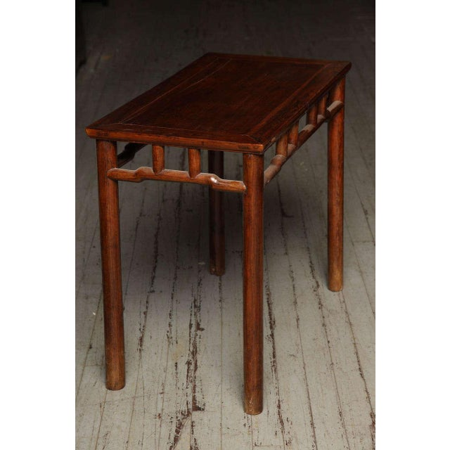 Qing Dynasty Elmwood Small Console Wine Table from China, 19th Century For Sale In New York - Image 6 of 10
